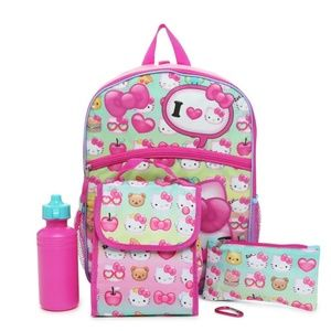 Other - Hello Kitty 5 piece Backpack Set